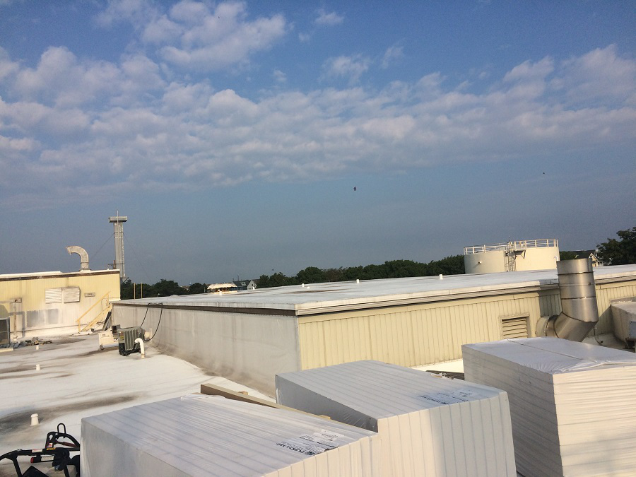 Pharmacuetical flat roof installation