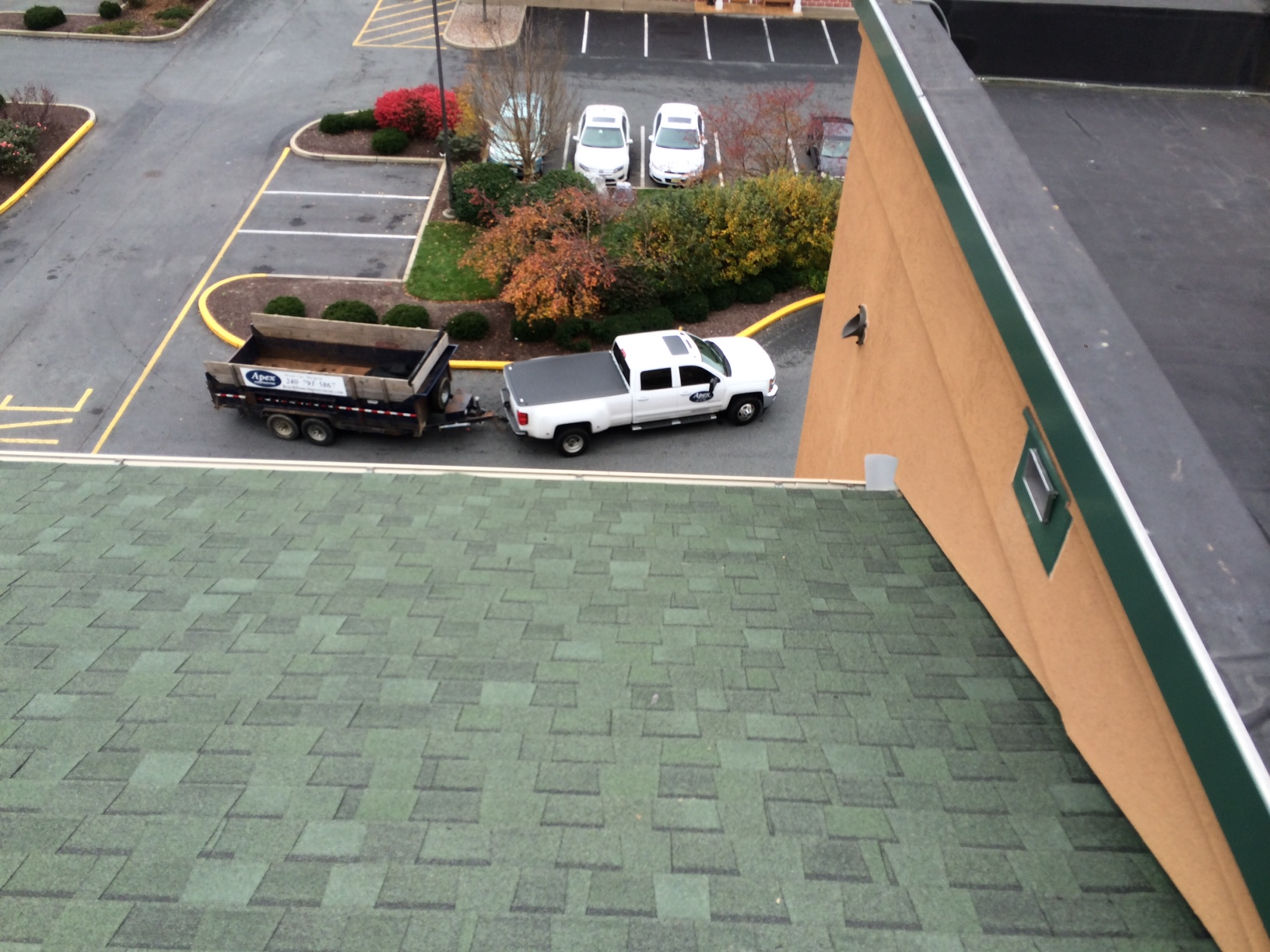Commercial Hotel Roof Installation by Apex Construction